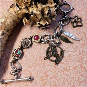 Lucky Brand Crane Charm Bracelet